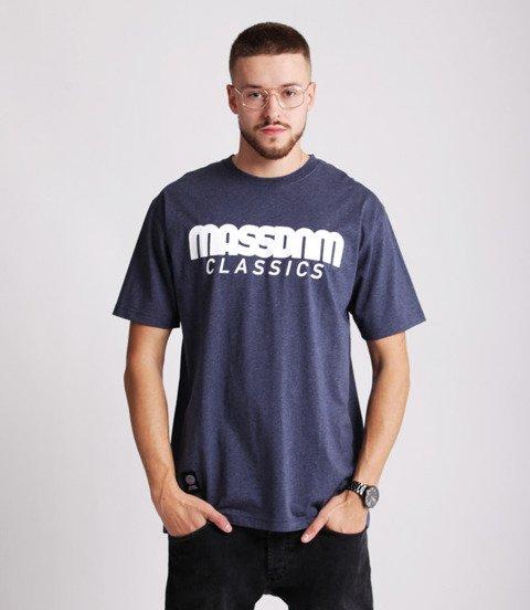 Mass CLASSICS T-shirt Melanż Granatowy