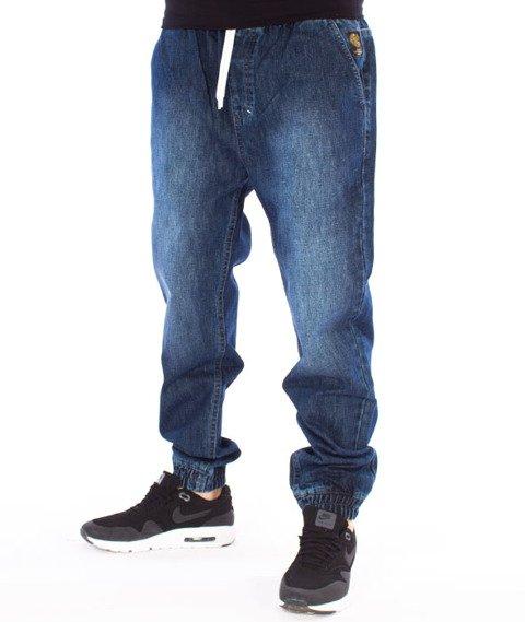 Mass-Campus Jogger Jeans Sneaker Fit Spodnie Dark Blue