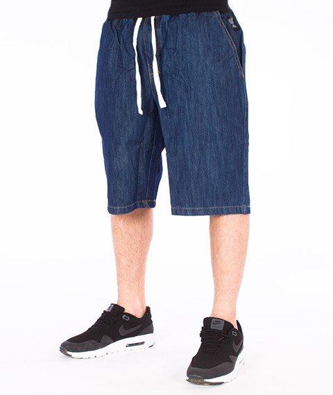 Mass-Classics Chino Spodnie Krótkie Dark Blue