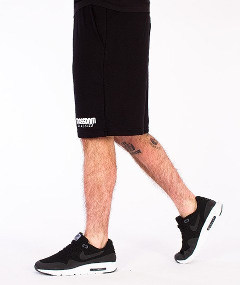 Mass-Classics Spodnie Dresowe Krótkie Czarne
