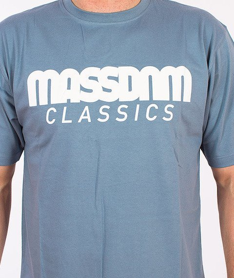 Mass-Classics T-shirt Stalowy Niebieski
