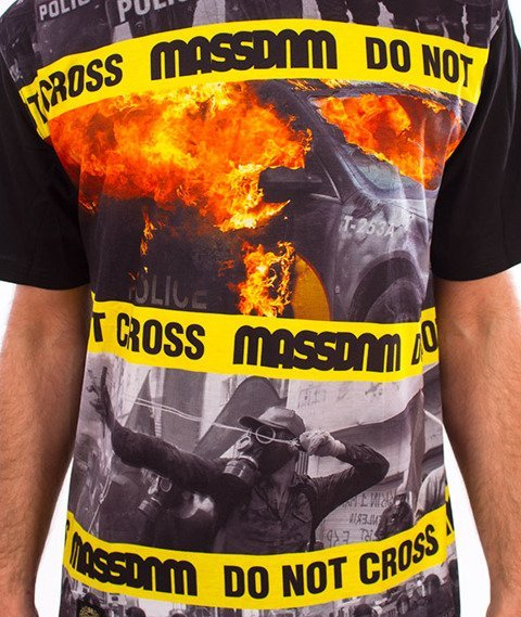 Mass-Do Not Cross T-Shirt Czarny/Multicolor