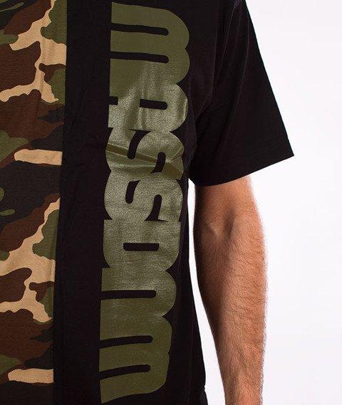 Mass-Half Camo T-Shirt Czarny