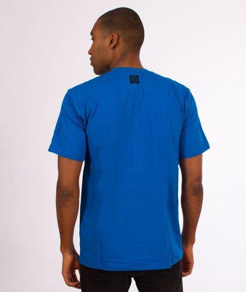 Mass-Marker T-Shirt Niebieski