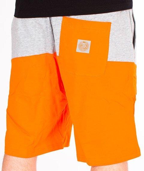 Mass-Master Spodnie Dresowe Krótkie Orange