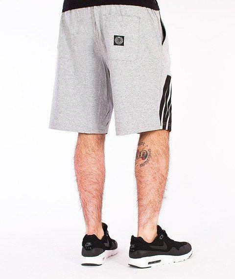 Mass-Outsized Spodnie Dresowe Krótkie Szare