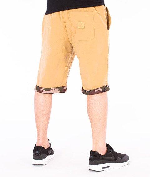 Mass-Patrol Spodnie Dresowe Krótkie Beżowe