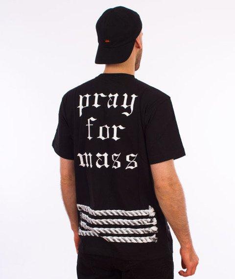 Mass-Plate T-shirt Czarny