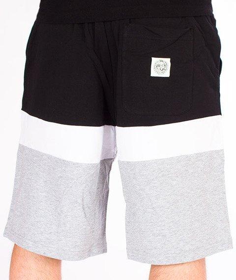 Mass-Respect Spodnie Dresowe Krótkie Light Heather Grey/Black