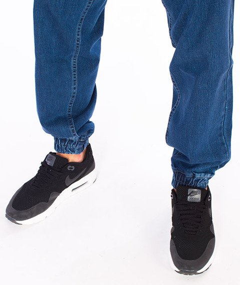 Mass-Signature Denim Sneakers Fit Jogger Light Blue