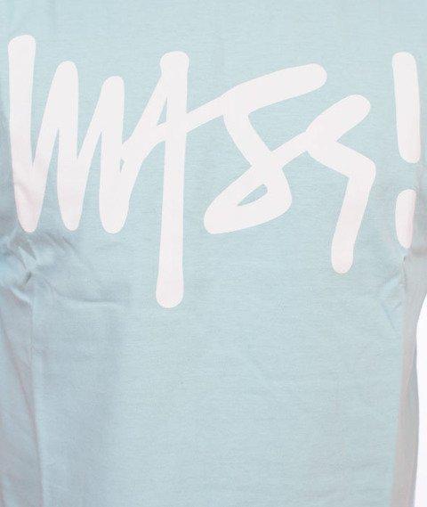 Mass-Signature T-shirt Jasny Niebieski