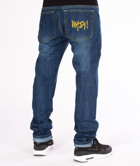 Mass-Signature Tapered Fit Jeans Spodnie Dark Blue