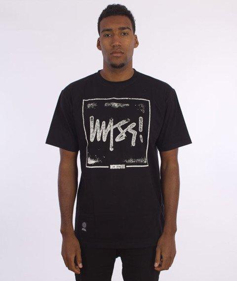 Mass-Stamp T-Shirt Czarny