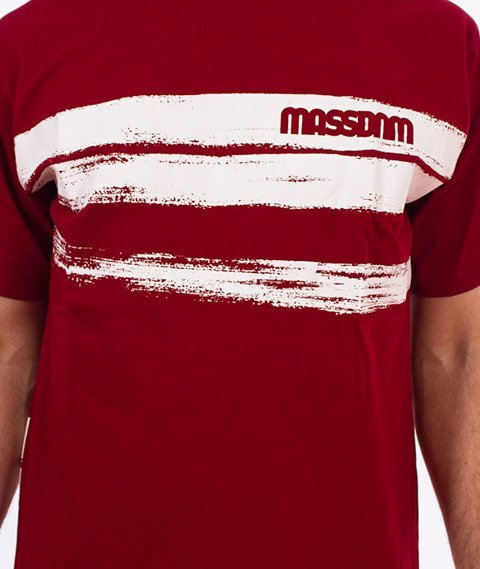 Mass-Traces T-shirt Bordowy