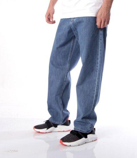 Massspodnie Jeans Slang Baggy Fit Niebieskie