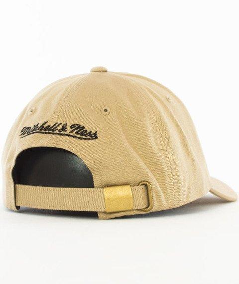 Mitchell & Ness-Chicago Bulls Rock Font Dad Hat Snapback Khaki