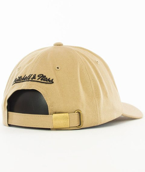Mitchell & Ness-Cleveland Cavaliers Rock Font Dad Hat Snapback Khaki