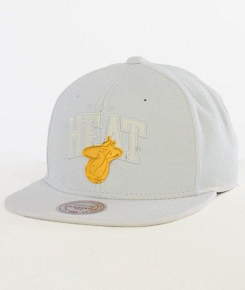 Mitchell & Ness-Miami Heat Snapback EU942 White/Gold