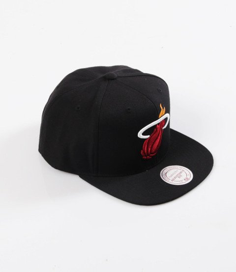 Mitchell & Ness- Wool Solid Snapback - NBA - Miami Heat