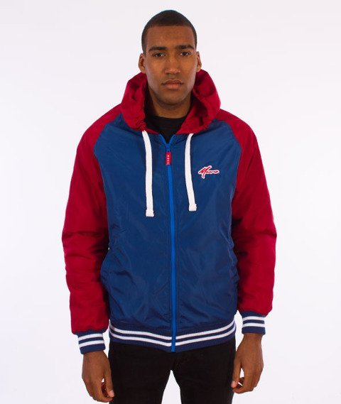 Moro Sport-Fullzip Windbreaker Jacket Kurtka Niebieska/Czerwona