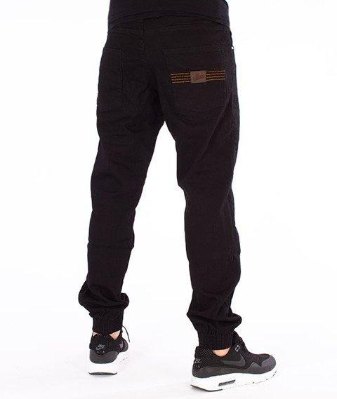 Moro Sport-Leather Baseball Jogger Spodnie Czarne