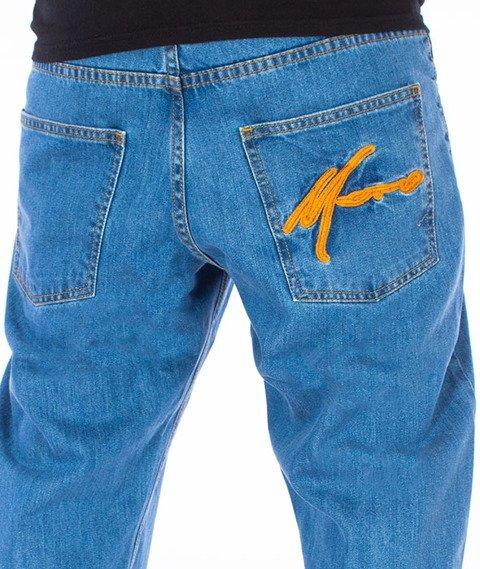 Moro Sport-Paris Regular Spodnie Jasne Pranie