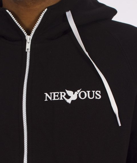 Nervous-Classic Zip SI Bluza Kaptur Zip Czarna