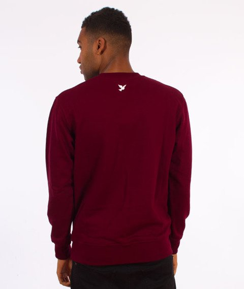 Nervous-Crewneck F17 Rose Icon Bluza Maroon