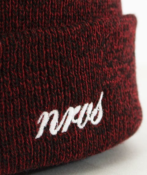 Nervous-Cuff Script Czapka Zimowa Burgundy Heather