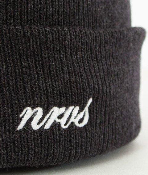 Nervous-Cuff Script Czapka Zimowa Dark Grey