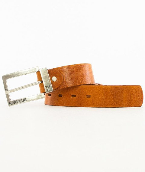 Nervous-Leather Classic Pasek Skórzany Brown/Silver