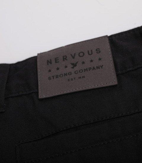 Nervous SS19 Chino Spodnie Materiałowe Czarny