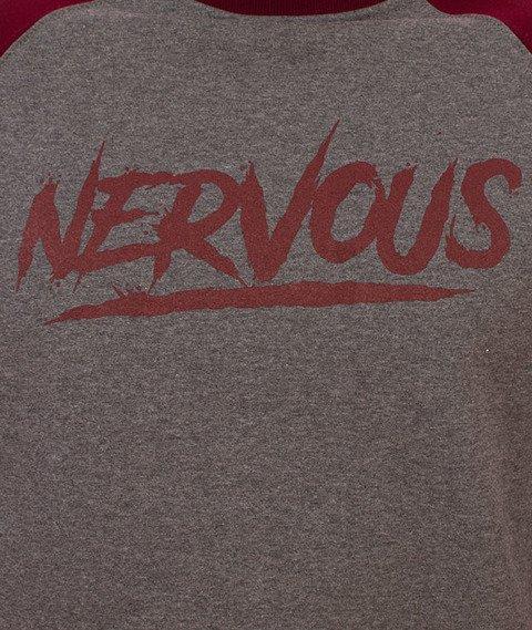 Nervous-Scratch Bluza Szara/Bordowa