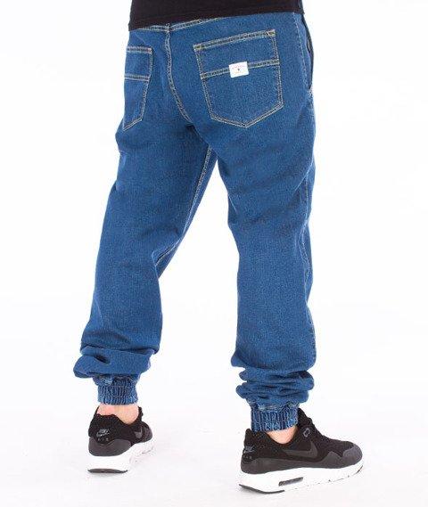 Nervous-Spodnie Sp17 Jogger Jeans Niebieskie