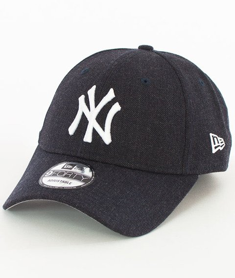 New Era-New York Yankees Heather Team Essential Czapka z Daszkiem Heather Navy