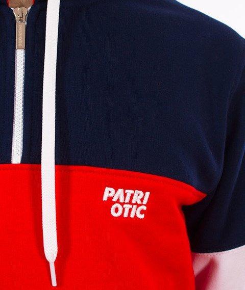 Patriotic-CLS Komin Bluza Kaptur Granatowy/Czerwony/Biały