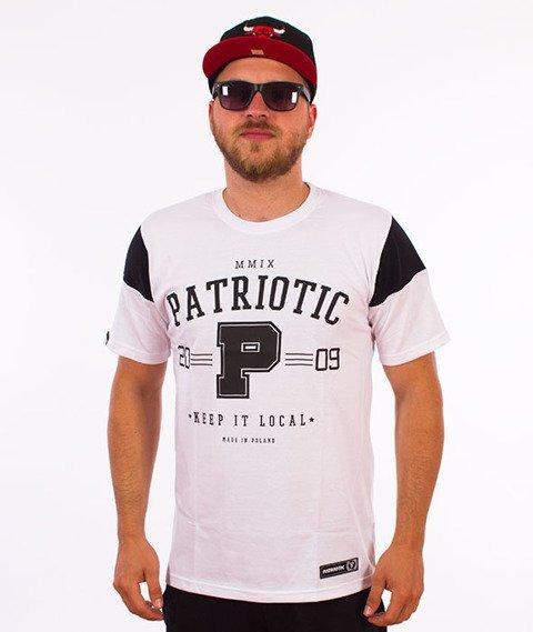 Patriotic-College T-shirt Biały