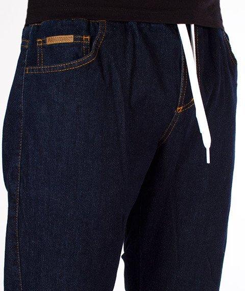 Patriotic-D1 Spodnie Jeansowe Ciemny Niebieski