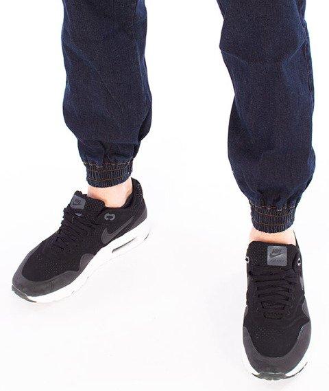 Patriotic-Damage Spodnie Jeansowe Jogger Ciemny Niebieski