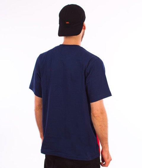 Patriotic-F Shade Shoulder T-shirt Czerwony/Granat/Biały