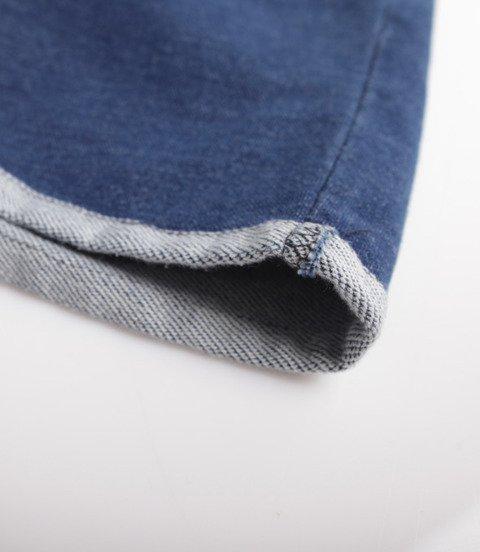 Patriotic Futura Pelt Krótkie Spodenki Jeans Granatowy Wycierany