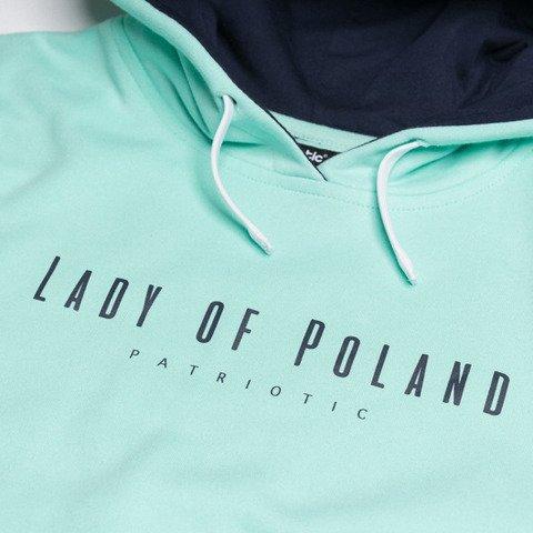 Patriotic Lady of Poland Bluza Damska z Kapturem Oversize Miętowy