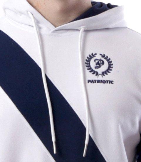 Patriotic-Laur Cross Line Bluza z Kapturem Biało Granatowa