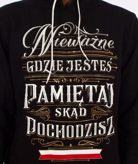 Patriotic-Pamiętaj Bluza Kaptur Czarna