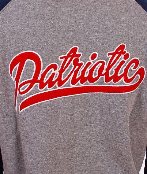 Patriotic-Rab Tag K ZIP Bluza Kaptur Rozpinana Grafit/Granatowy/Czerwony