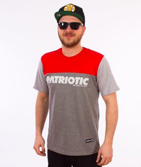 Patriotic-Shoulder T-shirt Szary/Czerwony