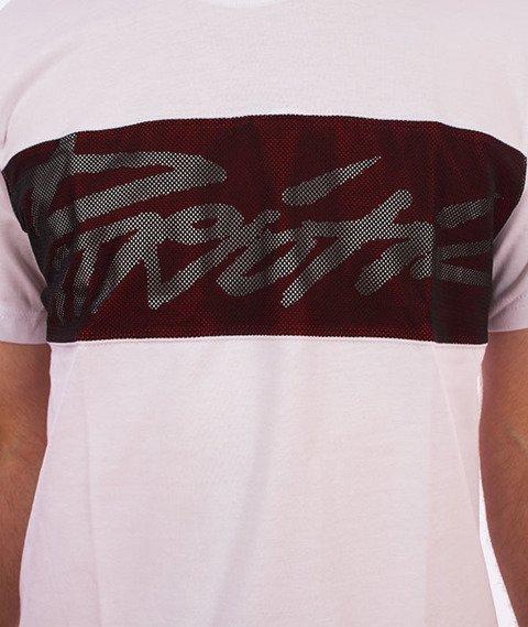 Patriotic-Tag Mesh T-shirt Biały