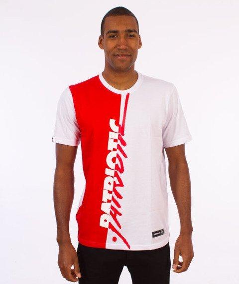 Patriotic-Tag T-shirt Biały/Czerwony