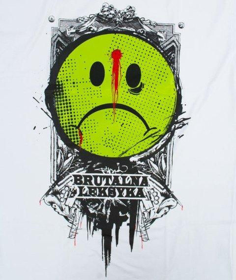 Pihszou-Brutalna Leksyka T-shirt Biały/Zielony