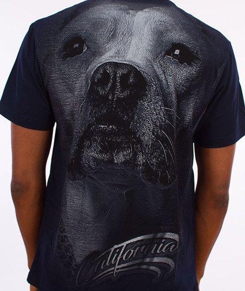 Pit Bull West Coast-California Dog T-Shirt Granatowy